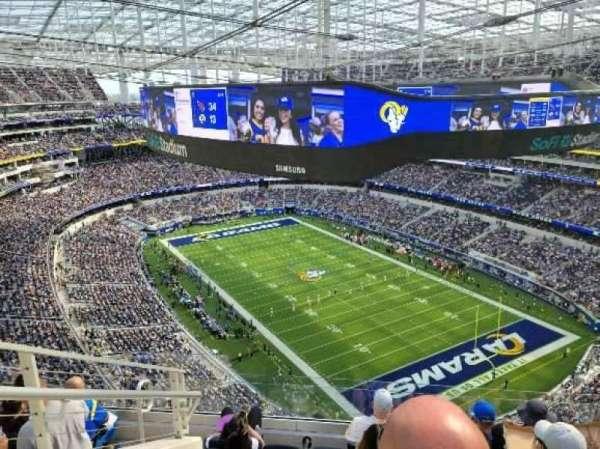 SoFi Stadium, section: 550, row: 6, seat: 21
