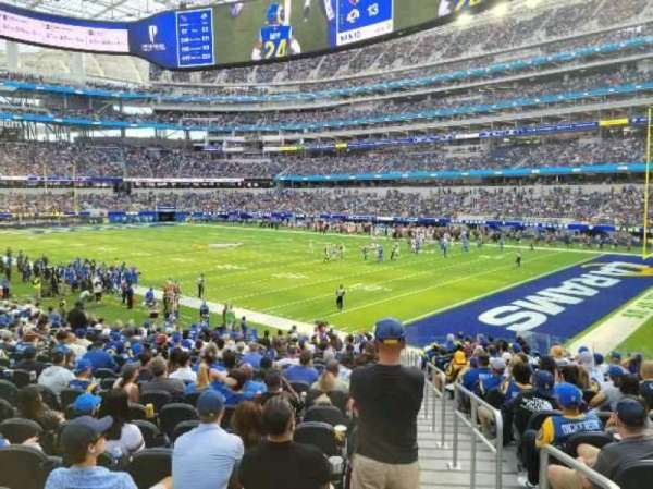 SoFi Stadium, section: C136, row: 19, seat: 1