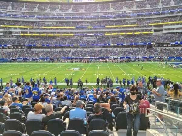 SoFi Stadium, section: VIP132, row: 19, seat: 3