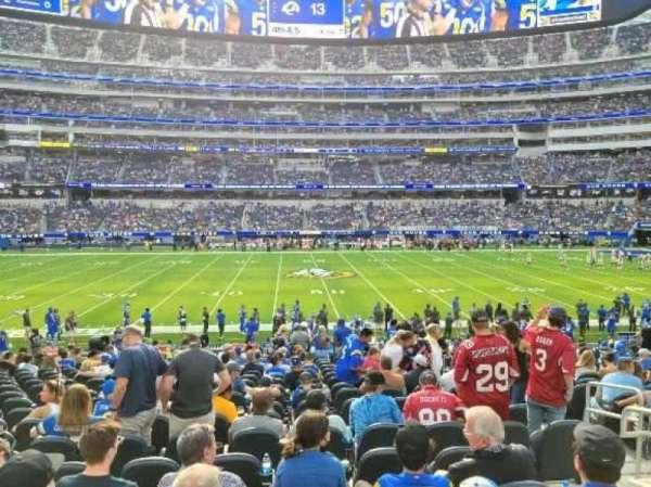 SoFi Stadium, section: VIP131, row: 19, seat: 5