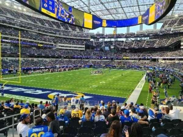 SoFi Stadium, section: 124, row: 17, seat: 10
