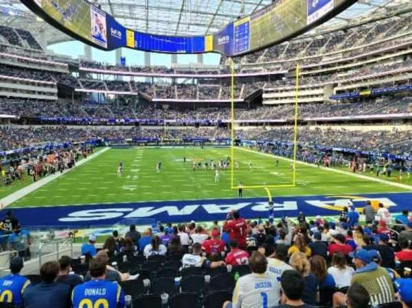 SoFi Stadium, section: 121, row: 17, seat: 21