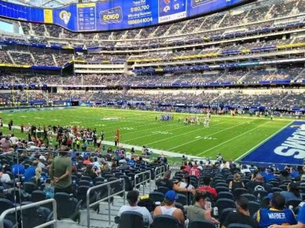 SoFi Stadium, section: C116, row: 18, seat: 11