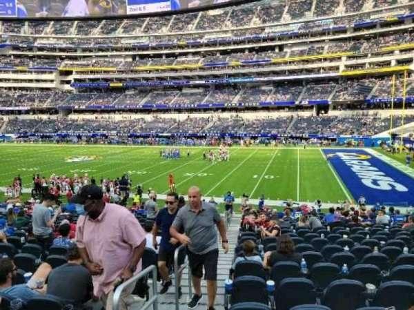 SoFi Stadium, section: C115, row: 19, seat: 22
