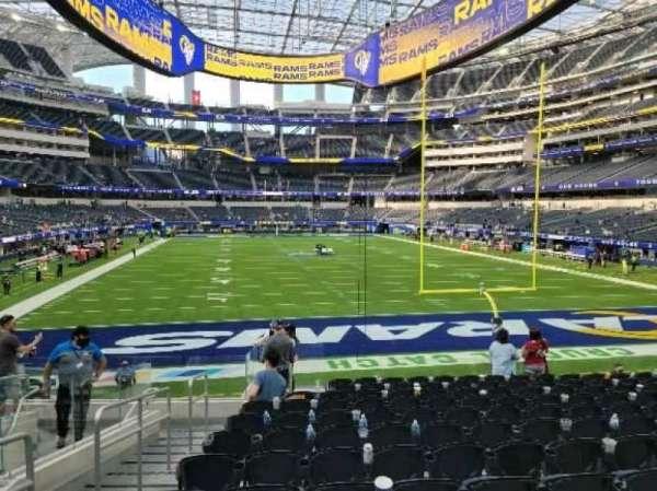 SoFi Stadium, section: 121, row: 13, seat: 23
