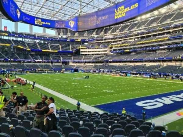 SoFi Stadium, section: C117, row: 14, seat: 4