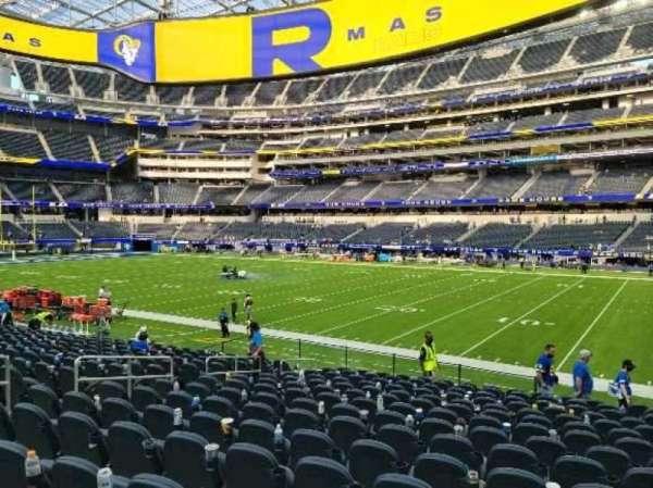 SoFi Stadium, section: C115, row: 15, seat: 10