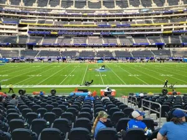 SoFi Stadium, section: VIP111, row: 15, seat: 3
