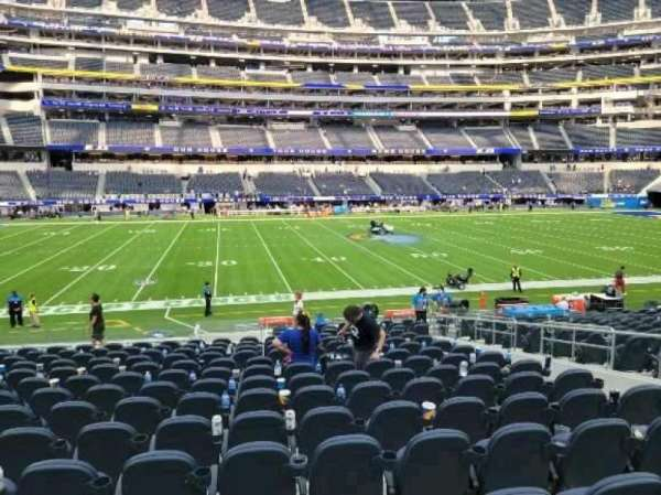 SoFi Stadium, section: C110, row: 17, seat: 7