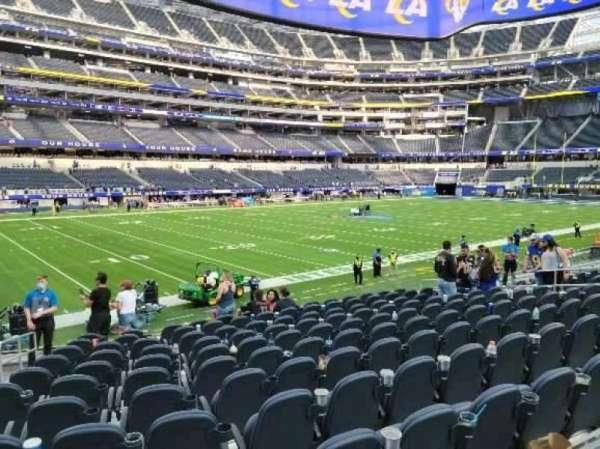 SoFi Stadium, section: C108, row: 12, seat: 16