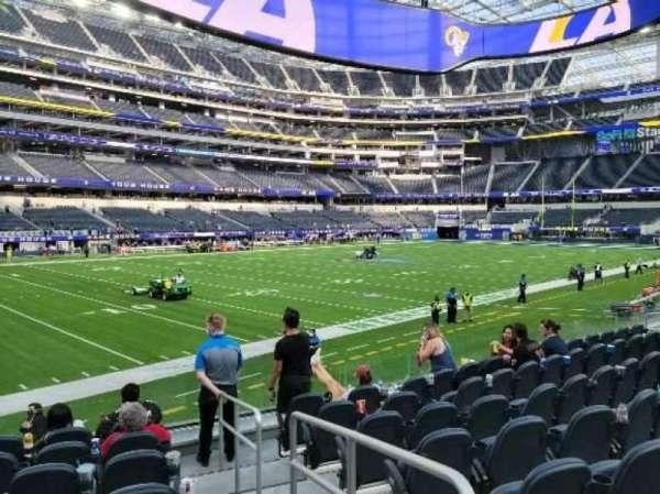 SoFi Stadium, section: C107, row: 8, seat: 1