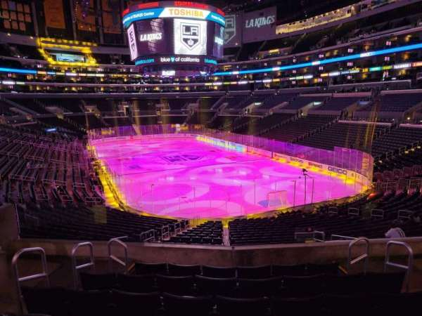 Staples Center, section: 218, row: 7, seat: 10