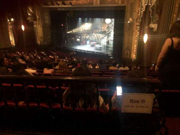 Hollywood Pantages Theatre, section: Mezzanine R, row: H, seat: 20
