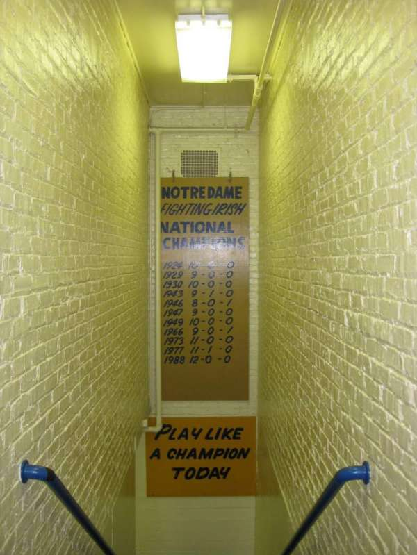 Notre Dame Stadium, section: Locker Room