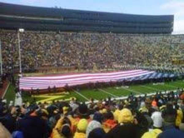 Michigan Stadium, section: 6, row: 19, seat: 15