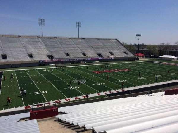 Huskie Stadium, section: G, row: 34, seat: 1