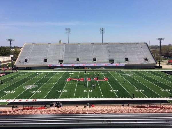 Huskie Stadium, section: D, row: 46, seat: 20
