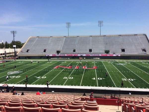 Huskie Stadium, section: D, row: 25, seat: 1