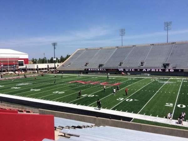 Huskie Stadium, section: B, row: 19, seat: 26