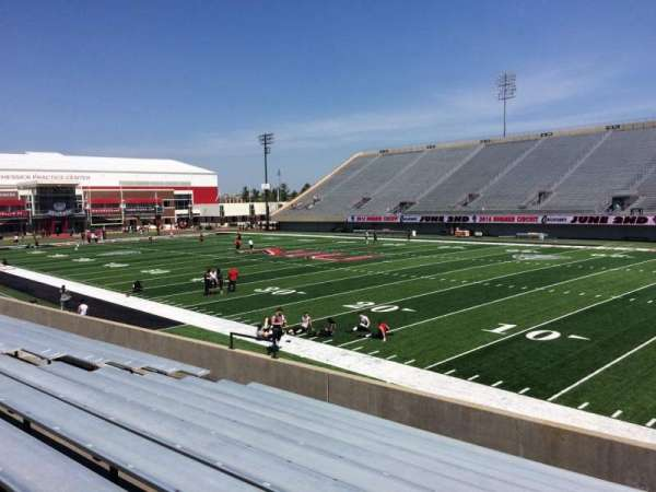 Huskie Stadium, section: A, row: 11, seat: 4