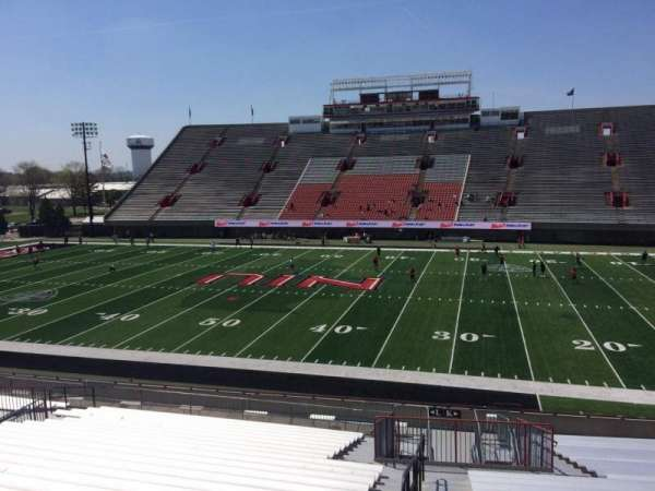 Huskie Stadium, section: K, row: 28, seat: 14
