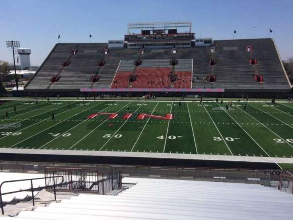 Huskie Stadium, section: L, row: 30, seat: 12