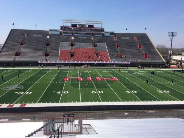 Huskie Stadium, section: M, row: 30, seat: 18