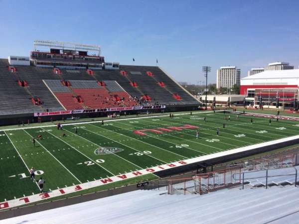 Huskie Stadium, section: P, row: 26, seat: 14
