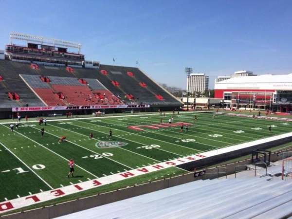Huskie Stadium, section: P, row: 18, seat: 1