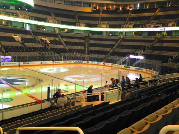 SAP Center, section: 102, row: 14, seat: 01