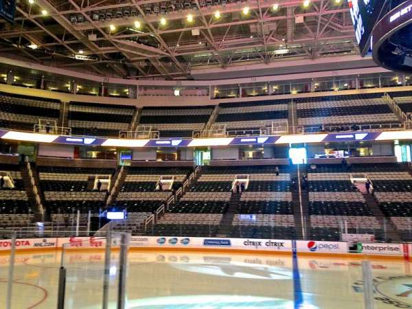 SAP Center, section: 102, row: 03, seat: 03