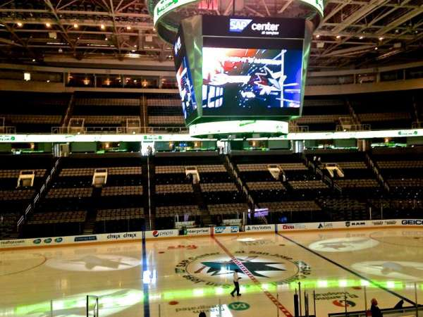 SAP Center, section: 102, row: 21, seat: 02