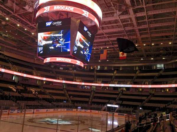 SAP Center, section: 104, row: 06, seat: 14