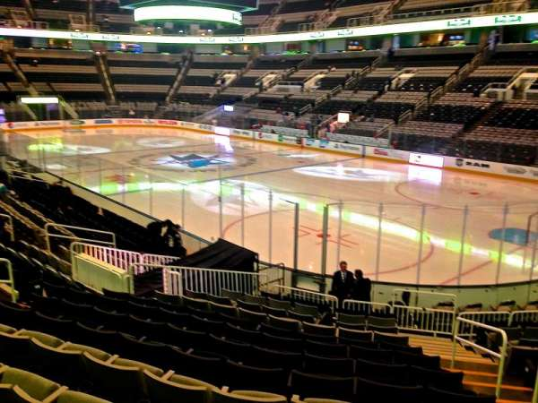 SAP Center, section: 112, row: 16, seat: 03