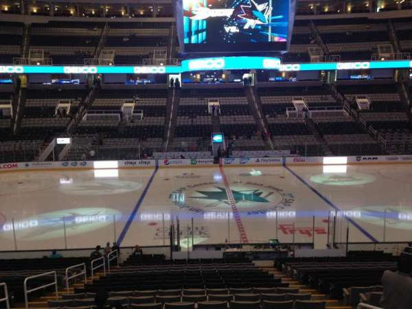 SAP Center, section: 115, row: 16, seat: 17