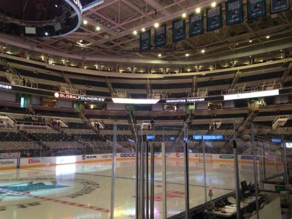 SAP Center, section: 116, row: 04, seat: 01
