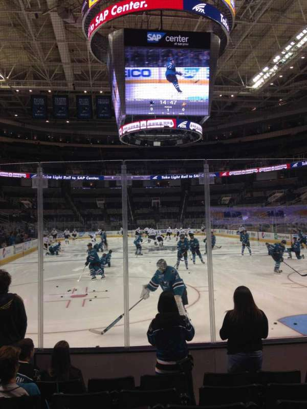 SAP Center, section: 123, row: 06, seat: 09