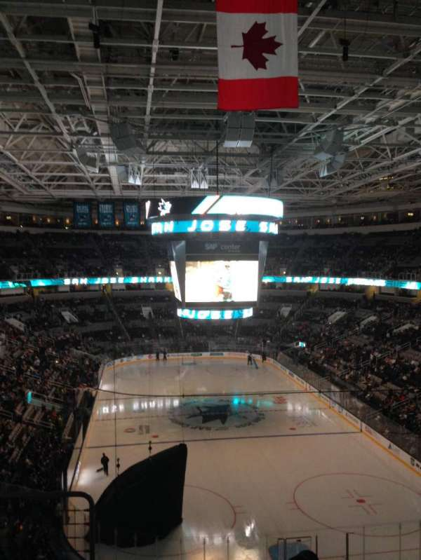 SAP Center, section: 223, row: 06, seat: 07