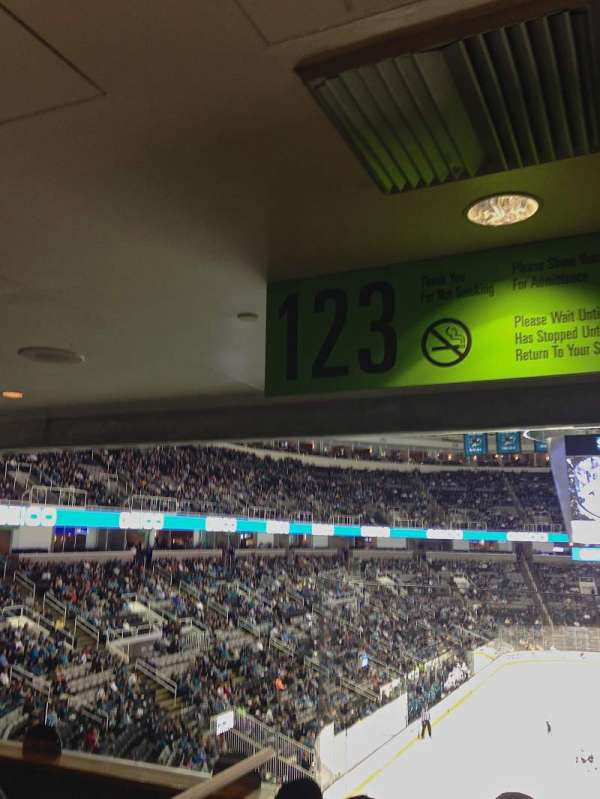 SAP Center, section: 123