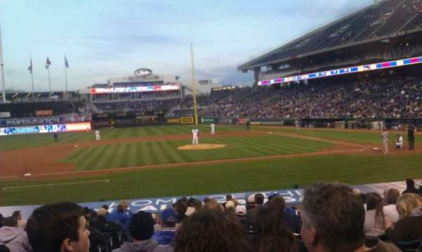 Kauffman Stadium, section: 121, row: P, seat: 2
