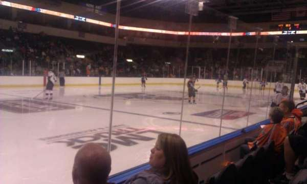 Cable Dahmer Arena, section: 114, row: 3, seat: 15
