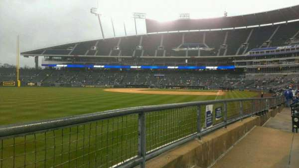 Kauffman Stadium, section: 108, row: J, seat: 10
