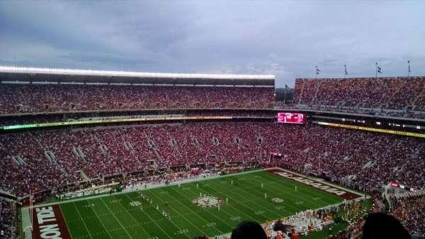 Bryant-Denny Stadium, section: U4-DD, row: 25, seat: 4