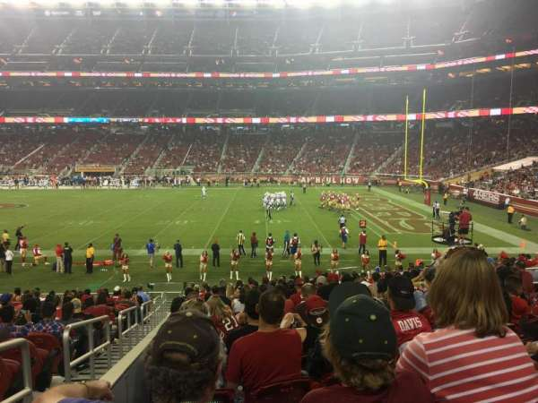 Levi's Stadium, section: 134, row: 20, seat: 16