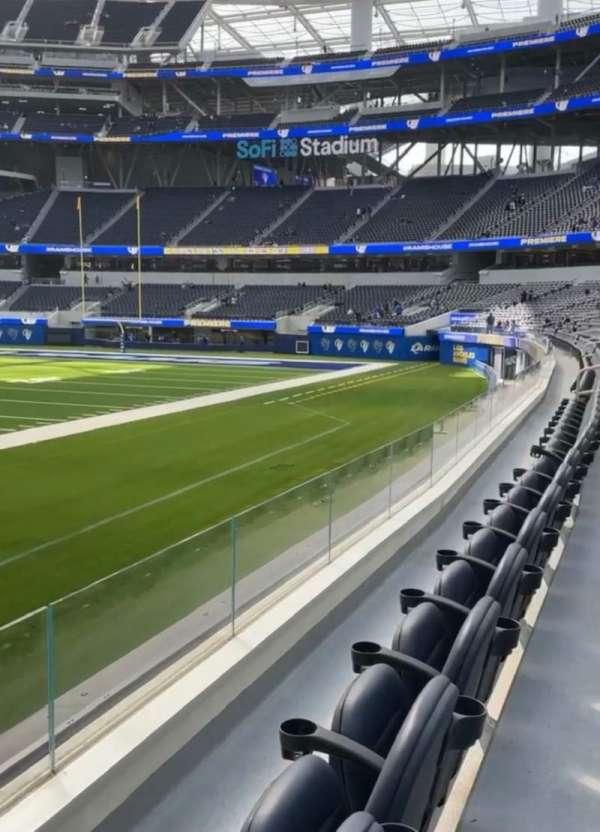 SoFi Stadium, section: VIP110, row: 2, seat: 1