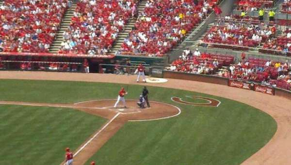 Great American Ball Park, section: 410, row: H, seat: 1