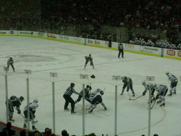 Nationwide Arena, section: 111, row: S, seat: 8