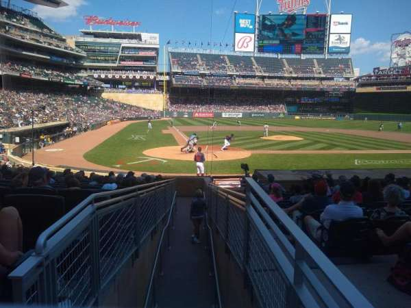 Target Field, section: 111, row: 1, seat: 2