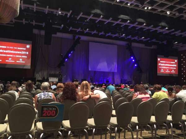Borgata Event Center, section: B, row: A, seat: 1