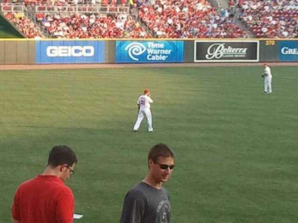 Great American Ball Park, section: 110, row: y, seat: 20